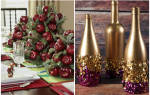 Композиция для напольной вазы. Букет новогодних шаров.