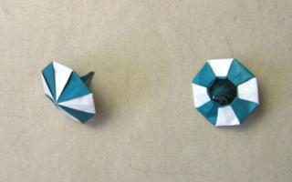 Модульное оригами. Юла.