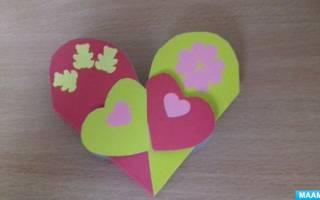 Валентинки из цветной бумаги. Мастер-класс
