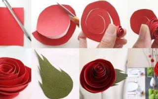 Букет роз из бумаги своими руками.