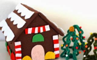 Декоративный домик из фетра своими руками.