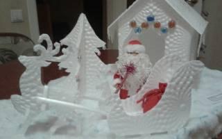 Дедушка Мороз своими руками с мешком подарков. Пошаговый мастер класс по пошиву декора к Новому Году