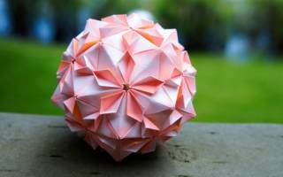 Новогодние игрушки из бумаги в технике оригами. Кусудама-шар.