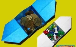 Оригами для начинающих. Коробочка Санбо. Мастер класс