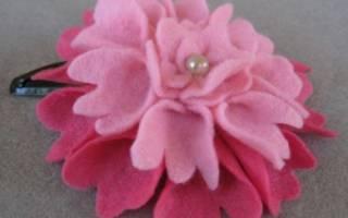 Обруч своими руками с цветком из фетра.