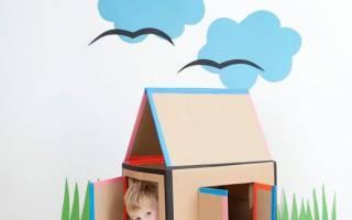 Детские игрушки из картонных коробки. Идеи
