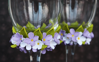 Свадебные бокалы своими руками: ТОП — 50 идей и мастер-классы с фото