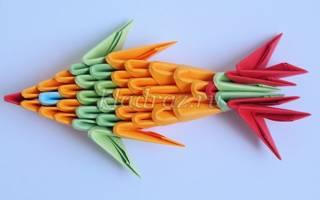Модульное оригами для детей. Рыбка. Мастер-класс