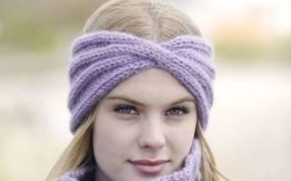 Вязание украшений. Ободок на голову. Мастер класс