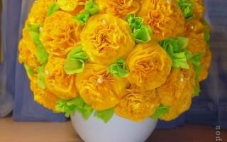Цветочный горшочек из салфеток.