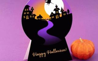 Открытка на Хэллоуин своими руками.