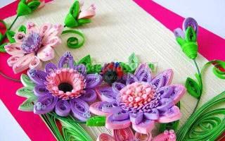 Квиллинг. Панно с цветочной композицией.