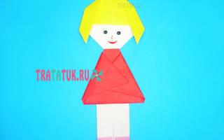 Кукла-оригами из бумаги. Волшебница.
