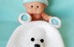 Вязаная зимняя шапочка для мальчика «Медвежонок». Мастер-класс