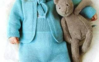 Комплект мальчику спицами и крючком. Вязаные пинетки, шапочка и кофточка для малыша. Схема и описание