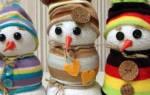 Красивый снеговик из носка. Делаем быстро и просто. Мастер-класс пошагово с фото