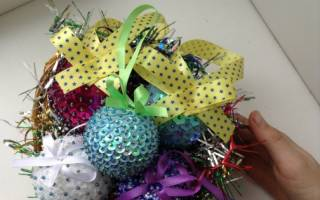 Елочные шары своими руками из пенопластовых шариков. Мастер класс с пошаговым фото