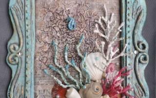 Картина в стиле шебби «Морская». Мастер-класс пошаговый с фото