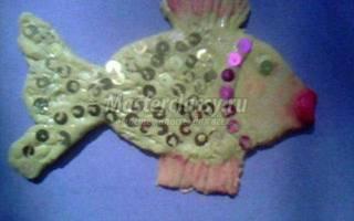 Поделки в технике тестопластика. Рыбка.