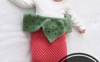 Спальник — конверт спицами для новорожденного своими руками
