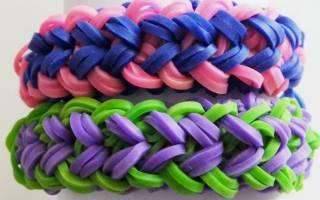 Легкие браслеты из резинок своими руками.