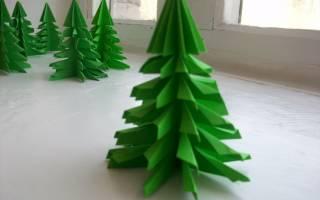 Новогодняя игрушка оригами елочка. Мастер-класс