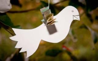 Белый голубь мира из бумаги к 9 Мая. Мастер-класс