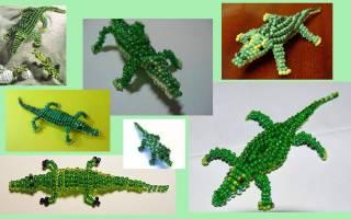 Животные из бисера. Крокодил. Мастер класс
