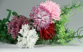 Цветы из бисера. Мастер класс