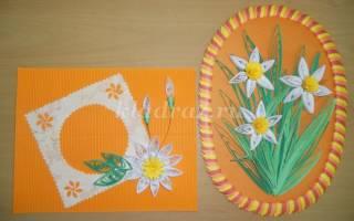 Панно к 8 Марта из цветной бумаги «Любимые цветы». Мастер класс по шаговое фото