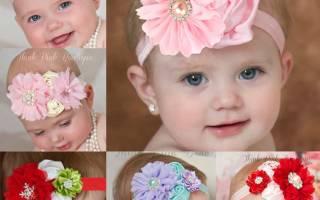 Красивая повязка с цветком для девочки своими руками: