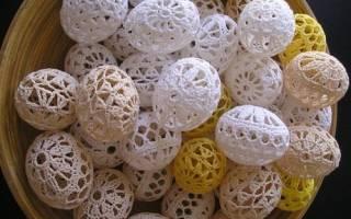Красивые вязаные пасхальные яйца. ТОП — 30 схемы и описание