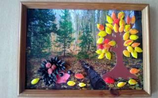 Осенняя 3D картина. Мастер класс с пошаговым фото