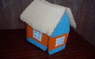 Домик в технике модульное оригами.