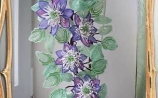 Цветы из бисера. Клематис.