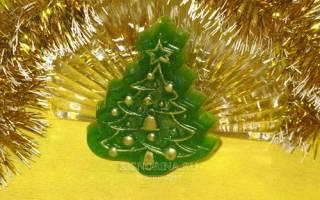 Новогоднее мыло «Елочка». Мастер класс с пошаговым фото