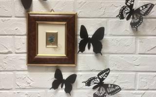 Бабочки из картона для украшения интерьера.
