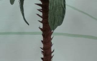 Красивая и простая поделка: пальма: