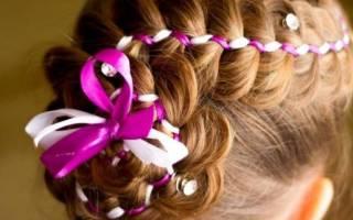 Причёска для девочек.
