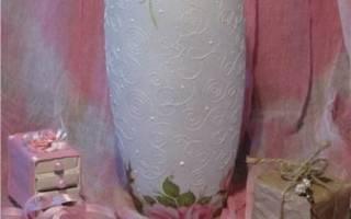 Декупаж салфетками для начинающих: декоративная ваза. Мастер-класс