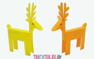 Новогодние помощники – объемные олени из цветной бумаги. Мастер класс с пошаговым фото