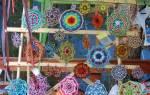 Плетение мандалы желаний из цветных ниток.