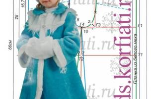 Новогодний костюм Снегурочки своими руками для девочки 1,5-2 года.
