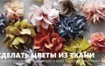 Весенний букет цветов из ткани.
