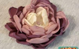 Текстильные цветы из органзы. Пионы.