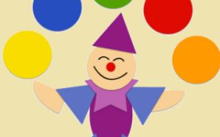 Аппликация из бумаги и ткани. Портрет клоуна дядюшки Мокуса. Мастер-класс