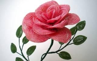 Букет цветов из бисера.
