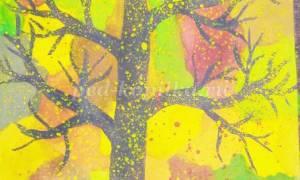 Конспект НОД в подготовительной группе в ДОУ по рисованию на тему «Осеннее дерево»