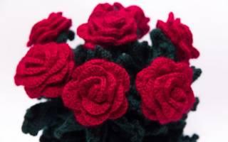 Цветы крючком. 100 фото и идей. Пошаговые мастер-классы и схемы. Как связать цветок крючком?