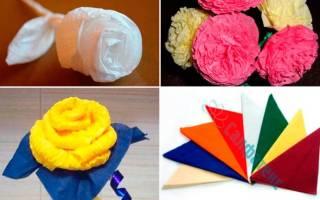 Как сделать цветы из салфеток: видео и фото мастер-классы